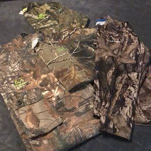 Youth camouflage pants & shirts